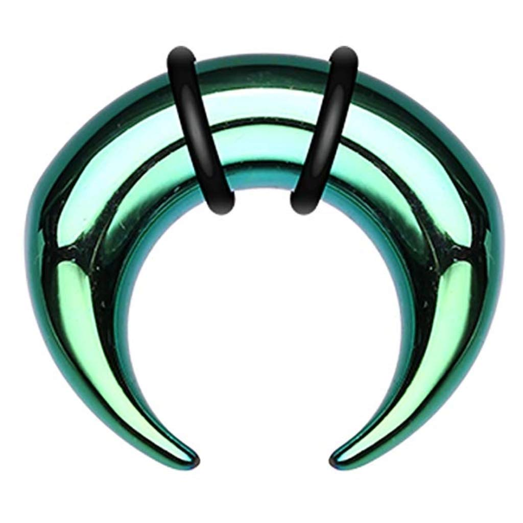Inspiration Dezigns Green Colorline Pincher Steel Ear Gauge Buffalo Tapers (Sold as a Pair) (4G) by Inspiration Dezigns