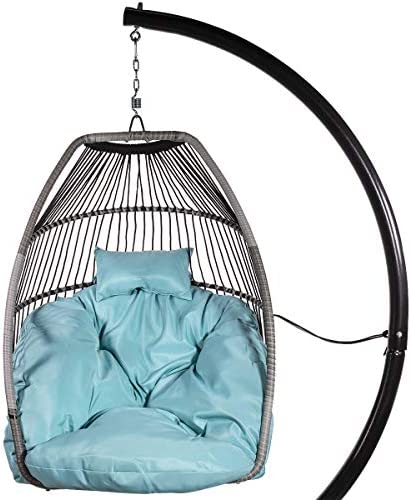 Barton Premium X-Large Patio Hanging Chair Swing Egg Chair UV Resistant Soft Deep Cushion Relaxing Basket Style Chair