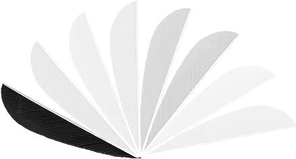 "Gateway 4/"" Left Wing Parabolic White Feathers 100 Pack"