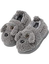 XNN Dog Slipper Shoes for Toddler Girls Boys Kids Warm Winter Bedroom Indoor House