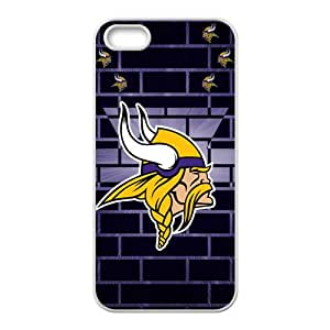 Minnesota Vikings Fashion Comstom Plastic case cover For Iphone 5s