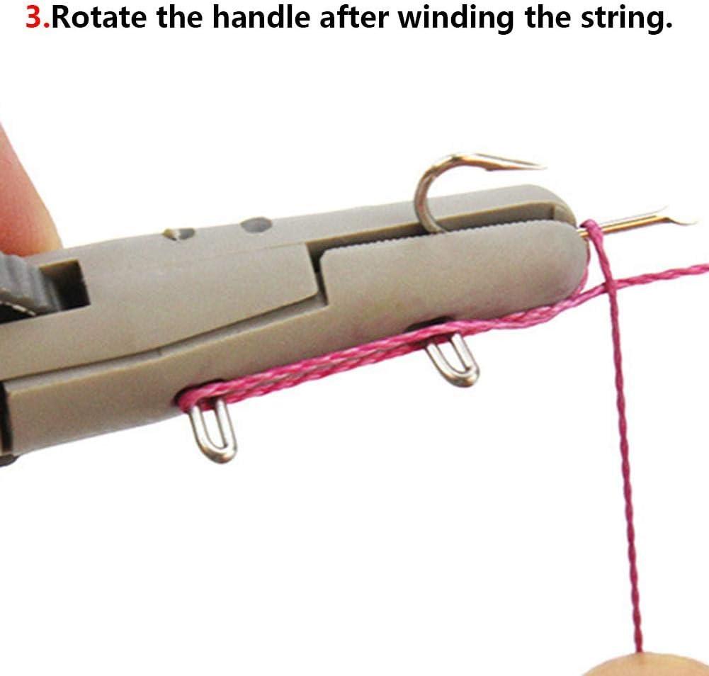 KILLYSUFUY Manual Hooking Device 14cm ABS Fish Hook Line Knotter Hook Hook Tier Fishing Gear