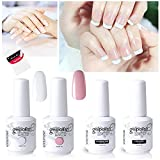 Vishine Gel Polish French Manicure Kit Top Base Coat Color Nail Polish Gel