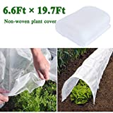 Pachor Big Size Plant Covers for Winter Freeze Protection, Reusable Frost Plant Protection Cover Anti-UV 6.6 Ft×19.7 Ft Rectangle