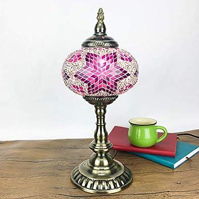 GHMOZ Lámpara de Mesa Lámpara de Mosaico Decoración Lámpara ...