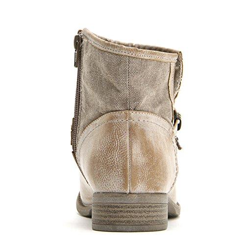 PRENDIMI by Scarpe&Scarpe - Botines bajos con doble correa y tachas, con Tacones 3 cm Beige