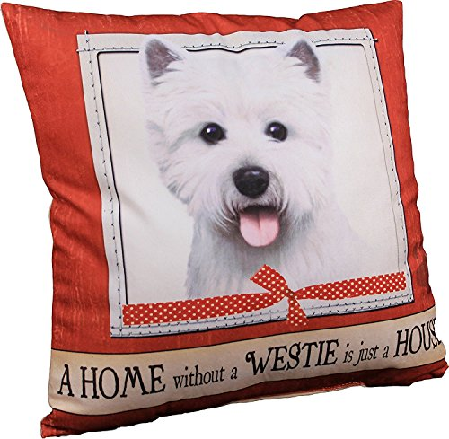 E&S Pets Large Dog Design Throw Pillow 16 x 16 inches - Westie West Highland Terrier