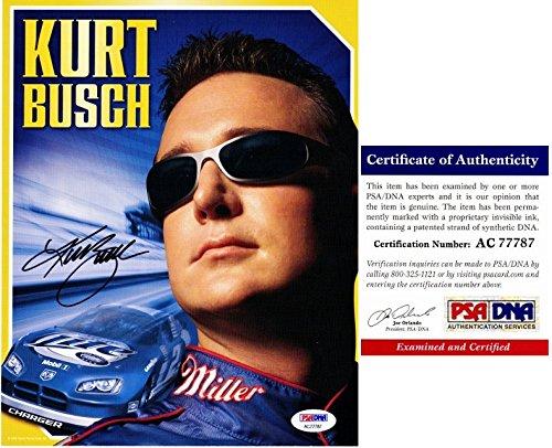 Kurt Busch Signed - Autographed Nascar Driver - #2 Miller Lite 8x10 inch Photo - PSA/DNA Certificate of Authenticity (COA)