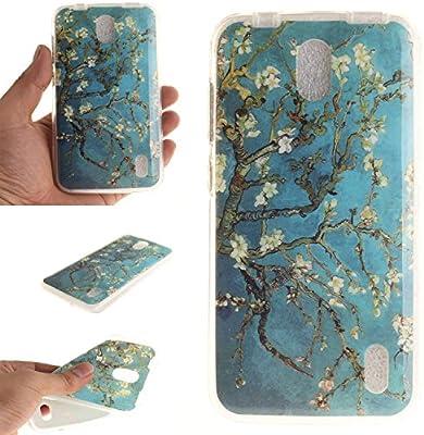 Guran® Silicona Funda Carcasa para Huawei Y625 Smartphone Case Bumper Shock TPU Cover-Árbol de flores