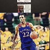 Autographed/Signed Andrew Wiggins Kansas Jayhawks 8x10 Basketball Photo JSA COA