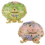 3'' 17th Century Replica Royal Russian Renaissance Faberge-style Enameled Eggs...