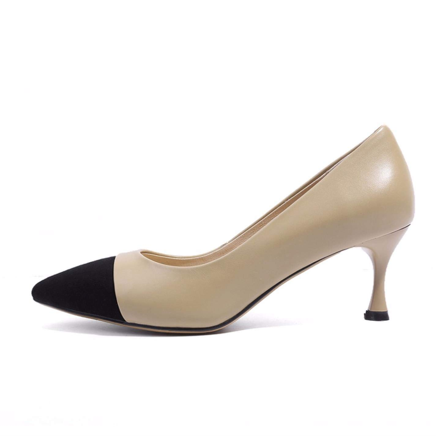 Office Shoes For Woman 6cm Pointed Toe Slip On Shoes Pumps