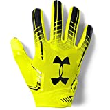 Under Armour boys F6 Youth Football Gloves High-Vis Yellow (731)/Black Youth Small