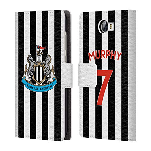 Compact Wallet Murphy (Official Newcastle United FC NUFC Jacob Murphy 2018/19 Players Home Kit Group 1 Leather Book Wallet Case Cover for Huawei Y6 II Compact)