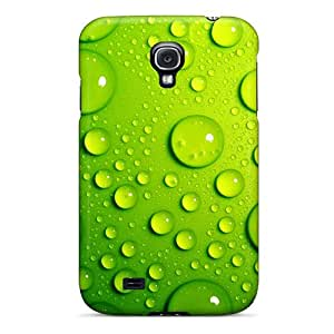 First-class Case Cover For Galaxy S4 Dual Protection Cover Green Bubbles