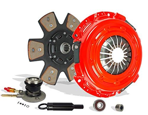 Puck Teeth - Clutch Kit Works With With Slave Chevy Silverado 1500 Gmc Sierra Base SL LS LT SLT SLE WT 1999-2002 4.3L V6 GAS OHV Naturally Aspirated (OD: 11; Spline: 1-1/8; Teeth: 10T; VIN: W, MFI; 6-Puck Stage 2)
