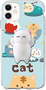 XYIYI iPhone 11 Case, Finger Pinch 3D Cute Soft Silicone Poke Squishy Cat Phone Back Protective Cover for Apple iPhone 11 6.1 inch