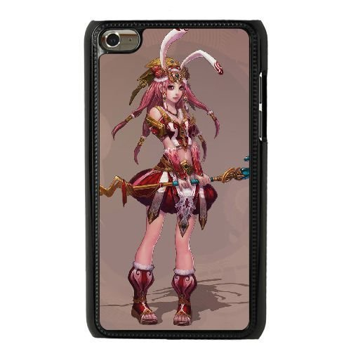 HD exquisite image for iPod 4 Case Black magical girl with bunny ears AMI6765218