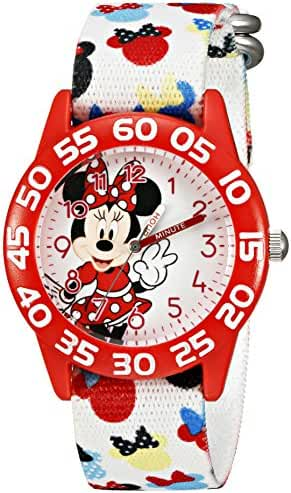 Disney Kids' W002374 Minnie Mouse Time Teacher Watch with Multicolor Band