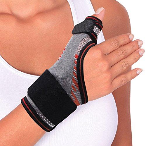 ORTONYX Thumb Immobilizer Brace Spica Thumb Support Splint Support – Arthritis, Ache, Sprains, Strains, Carpal Tunnel & Trigger Thumb Immobilizer – Wrist Strap – Left Or Right Hand/ACKB433 – DiZiSports Store