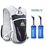 Cheap Sywwlov Hydration Pack Backpacks 5.5L Lightweight Waterproof Outdoor Camel Pack for Marathon Running Hiking Biking Camping Cycling Skiing (Gray+2x350ml Bottle, M/L)