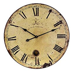 IMAX Corporation Large Wall Clock with Pendulum