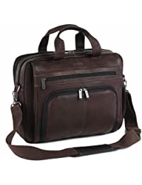 Kenneth Cole Reaction KC52446117 Out Of The Bag KCR Columbian Leather Business Case (Dark Brown)