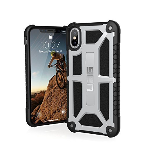 UAG iPhone X Monarch Feather-Light Rugged [PLATINUM] Military Drop Tested iPhone Case