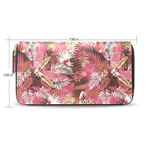 Women Pink Camo Leather...