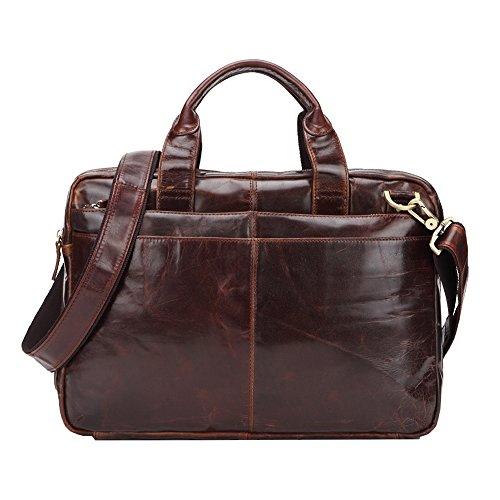 Genda 2Archer Retro Herren Leder Büro Business Messenger Bag Handtasche qFz4uxEA