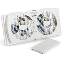 Holmes HAWF2021-WMUM Dual Blade Twin Window Fan (White)