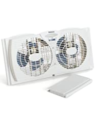 Holmes HAWF2021 Dual Blade Twin Window 7 Inch Fan, White (Med...