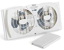 Holmes Dual Blade Twin Window Fan, White