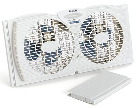 Holmes Dual Blade Twin Window Fan, White (Appliances)