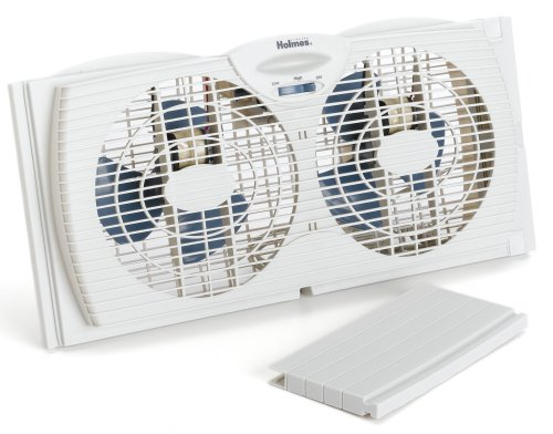 Holmes HAWF2043 Dual Blade Twin Window fan with One Touch Thermostat …