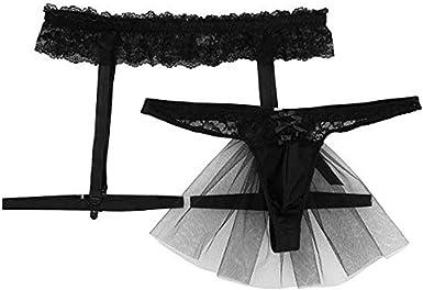 Women/'s Palid Panty Skirted G-string Sock Garter Belt Holder Suspender Knickers