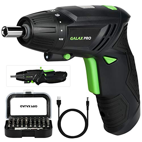 Cordless Screwdriver, GALAX PRO 3.6V Electric Screwdriver, 2000mAh Li-ion Battery with Battery Indicator with 4N.m Max. Torque and 31PCS Free Accessories for Home DIY...