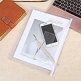 40 Pack Poly Zipper Envelopes, Letter Size Clear