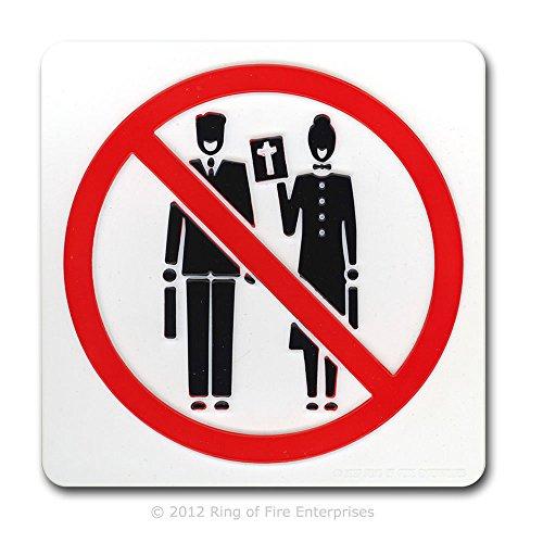 No Preaching' Door Plaque