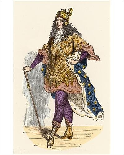 [Photographic Print Of Louis Xiv In Costume] (Louis Xiv Costume History)