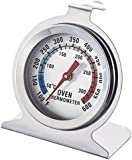 Oven Thermometer Digital Stainless Steel Oven Monitoring Thermometer 100 to 600 Degrees F Temperature Range (2 Pack)