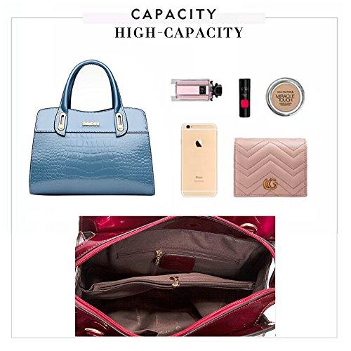 a a Mano Donna a Spalla Capacità Tracolla rosso Cerniera Elegante Sacchetto in Borsa per Pelle Borse Blu GAVERIL Borse Yqva4BY