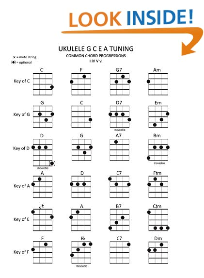 Ukulele Chord Chart: Amazon.Com