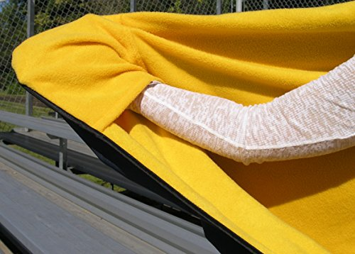 "Ultimate Sports Wrap PATENTED The Only WEARABLE Weatherproof / Stadium / Picnic / Sports Blanket, complete with Upper and Lower Zippers, Lined & Adjustable Hood and Inside Hand Warmers, 70"" X 58"""
