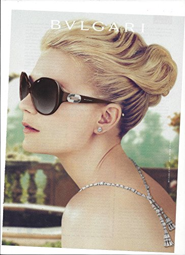 **PRINT AD** With Kirsten Dunst For 2012 Bvlgari Sunglasses **PRINT - Bvlgari 2012 Sunglasses