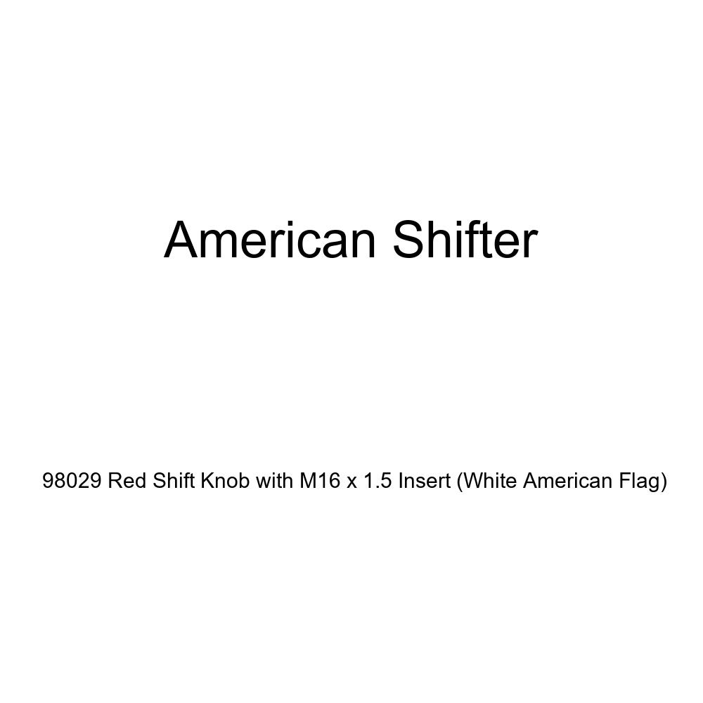 American Shifter 98029 Red Shift Knob with M16 x 1.5 Insert White American Flag