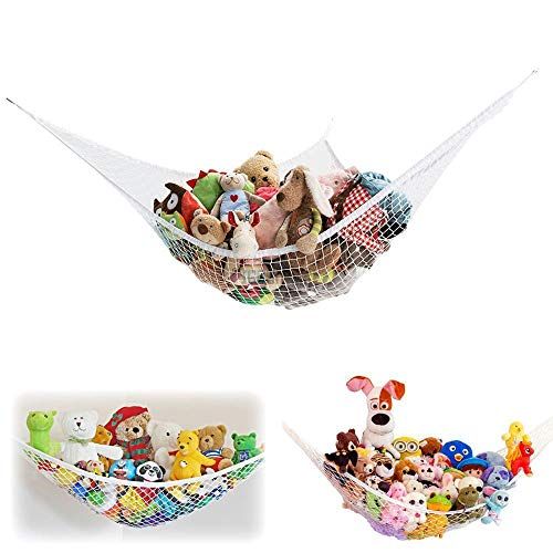2 Pack of Jumbo Size Toy Stuffed Animal Storage Hammock with Elastic Bands - Easy to Install Toy Storage Hammock with no Stuffed Animals no Included