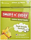 Smart N' Tasty 32-Ounce Fresh Breath Dental Treats, Medium