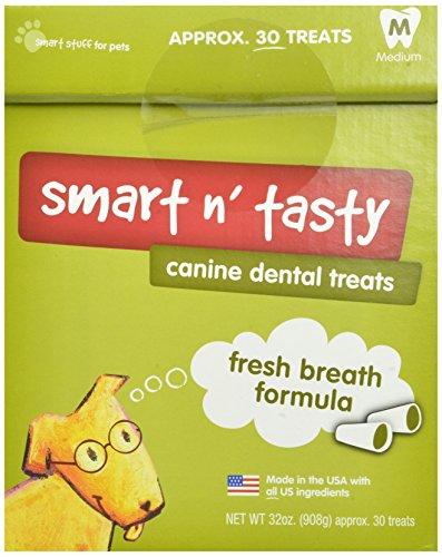 Smart N' Tasty 32-Ounce Fresh Breath Dental Treats, Medium