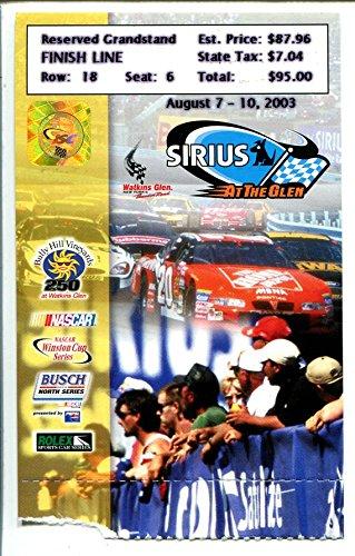 (Watkins Glen Raceway NASCAR Race Ticket Stub 8/2003-Grandstand seat #6-VG)